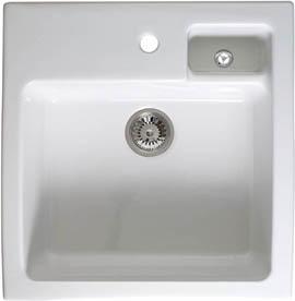 astracast sink canterbury 15 bowl sit in ceramic kitchen sink - Kitchen Sinks Ceramic