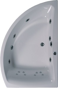 Aquaestil Comet Aquamaxx Corner Whirlpool Bath. 14 Jets. Right Handed.