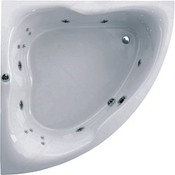 Aquaestil Gloria Corner Turbo Whirlpool Bath. 14 Jets. 1500x1500mm.