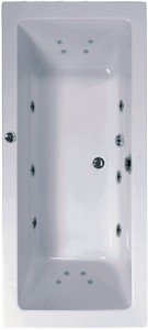 Aquaestil Plane Double Ended Whirlpool Bath. 14 Jets. 1900x900mm.