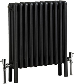 Bristan Heating Nero 3 Column Electric Radiator (Gun Metal). 535x600mm.