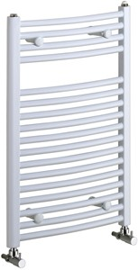 Bristan Heating Rosanna 500x1000mm Electric Curved Radiator (White).
