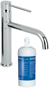 Mayfair Kitchen Kitchen Tap With Brita On Line Active Filter Kit (Chrome).