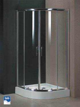 Milano 800x800 Quadrant Shower Enclosure With Double