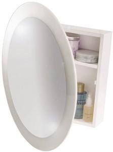 Croydex Cabinets Round Mirror Bathroom Cabinet 525x525x105mm