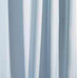 Croydex Textile Shower Curtain & Rings (Light Blue, 1800mm).