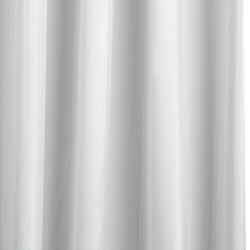 Croydex Textile Pro Shower Curtain With PVC Liner & Rings (White).