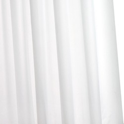 Croydex PVC Hygiene Shower Curtain & Rings (White, 1800mm).