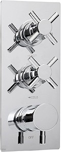 "Deva DTV3 Thermostatic TMV2 1/2"" Triple Concealed Shower Valve (Chrome)."