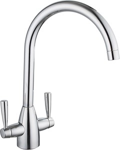 Hydra Mia Kitchen Tap With Twin Lever Controls (Chrome).