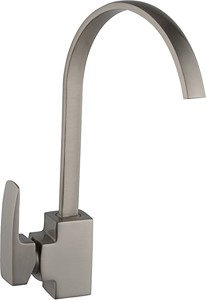 Hydra Adele Kitchen Tap With Single Lever Control (Brushed Steel).