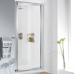 Lakes Classic 750mm Framed Pivot Shower Door (Silver).