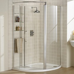 Left Hand 1255x965 Compartment Shower Enclosure Amp Tray