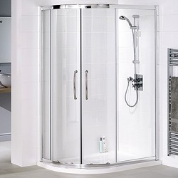 Lakes Classic Left Hand 1000x800 Offset Quadrant Shower Enclosure & Tray.