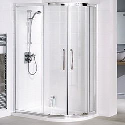 Lakes Classic Right Hand 1200x800 Offset Quadrant Shower Enclosure & Tray.