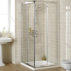 Lakes Classic 1000mm Square Shower Enclosure & Tray (Silver).