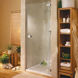 Lakes Italia Hinged Shower Door & Glass Panel. Right Hand. 800x1950mm.
