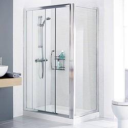 Lakes Classic 1400x1000 Shower Enclosure, Slider Door & Tray (Right Handed).
