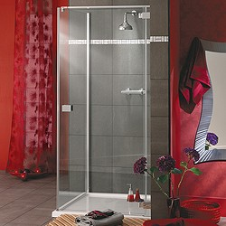 Lakes Italia Frameless Square Shower Enclosure & Tray. Right Handed. 900mm.