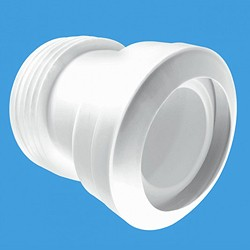 "McAlpine Plumbing WC 4""/110mm 14 Degree Toilet Pan Connector (Macfit)."