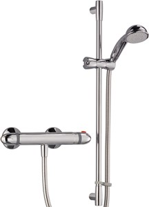 Mira Coda Thermostatic Bar Shower Valve With Shower Kit (Chrome).