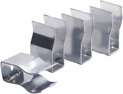 Crown Radiators 4 x Horizontal Radiator Brackets (High Gloss Silver).