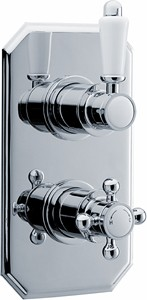 Crown Showers Traditional Twin Concealed Thermostatic Shower Valve.