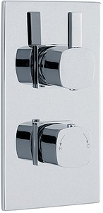 Crown Showers Twin Concealed Thermostatic Shower Valve (Chrome).