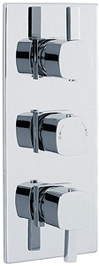 Crown Showers Triple Concealed Thermostatic Shower Valve (Chrome).