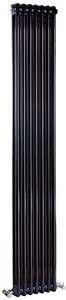 Crown Radiators Regency 2 Column Radiator (Black). 335x1800mm. 4471 BTU.