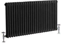 Crown Radiators Regency 2 Column Radiator (Black). 1055x600mm. 4897 BTU.