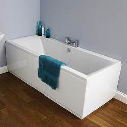 Crown Baths Asselby Double Ended Acrylic Bath & Panels. 1800x800mm.