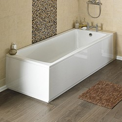 Crown Baths Linton Single Ended Acrylic Bath & Panels. 1700x750mm