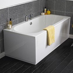 Crown Baths Otley Double Ended Acrylic Bath & Panels. 1700x750mm.