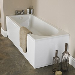 Crown Baths Barmby Single Ended Acrylic Bath & Panels. 1500x700mm