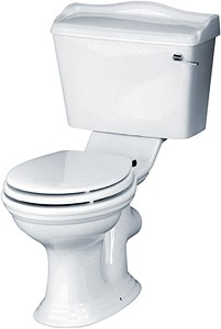 Crown Ceramics Ryther Toilet With Cistern & Soft Close Seat.