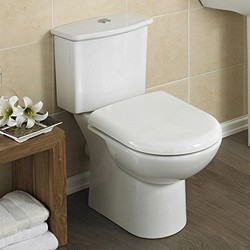 Crown Ceramics Linton Toilet With Dual Push Flush Cistern & Seat.