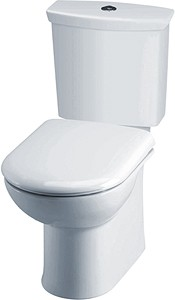 Crown Ceramics Otley Toilet With Push Flush Cistern & Soft Close Seat.