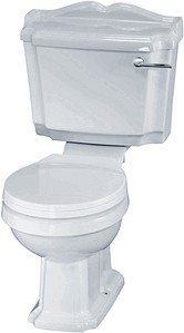Crown Ceramics Legend Traditional Toilet With Cistern & Soft Close Seat.