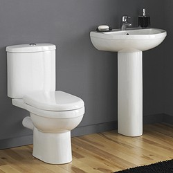 Crown Ceramics Ivo 4 Piece Bathroom Suite With 550mm Basin (1 Tap Hole).