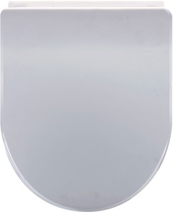 Crown Soft Close Toilet Seat (D Shaped, White).