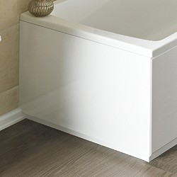 Crown Bath Panels 750mm End Bath Panel (White, MDF).