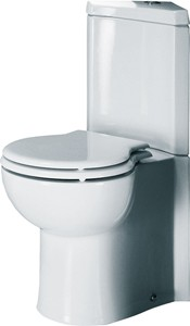 RAK Evolution Corner Toilet With Single Flush Cistern And Seat.