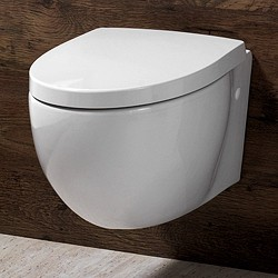 Shires Parisi Wall Hung Toilet Pan, Soft Close Seat.  Size 385x515mm.