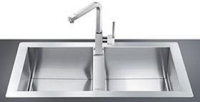 20 bowl stainless steel flush fit kitchen sink smeg sinks sm smeg sinks 20 bowl stainless steel flush fit kitchen sink workwithnaturefo