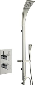 Hudson Reed Kia Twin Thermostatic Shower Valve & Modern Rigid Riser Kit.