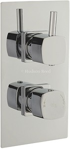 Hudson Reed Kia Twin Concealed Thermostatic Shower Valve With Diverter.