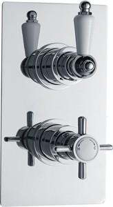 Ultra Beaumont Twin Thermostatic Shower Valve (Chrome)