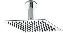 Component Ultra Thin Square Shower Head & Ceiling Arm. 200x200mm.