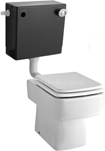 Hudson Reed Ceramics Square Back To Wall Toilet Pan With Seat & Cistern.